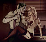 [commissions] DC: Joker and Harley lV by Quincy-Sue