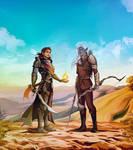 [commissions] OCs: Zahl and Ryn