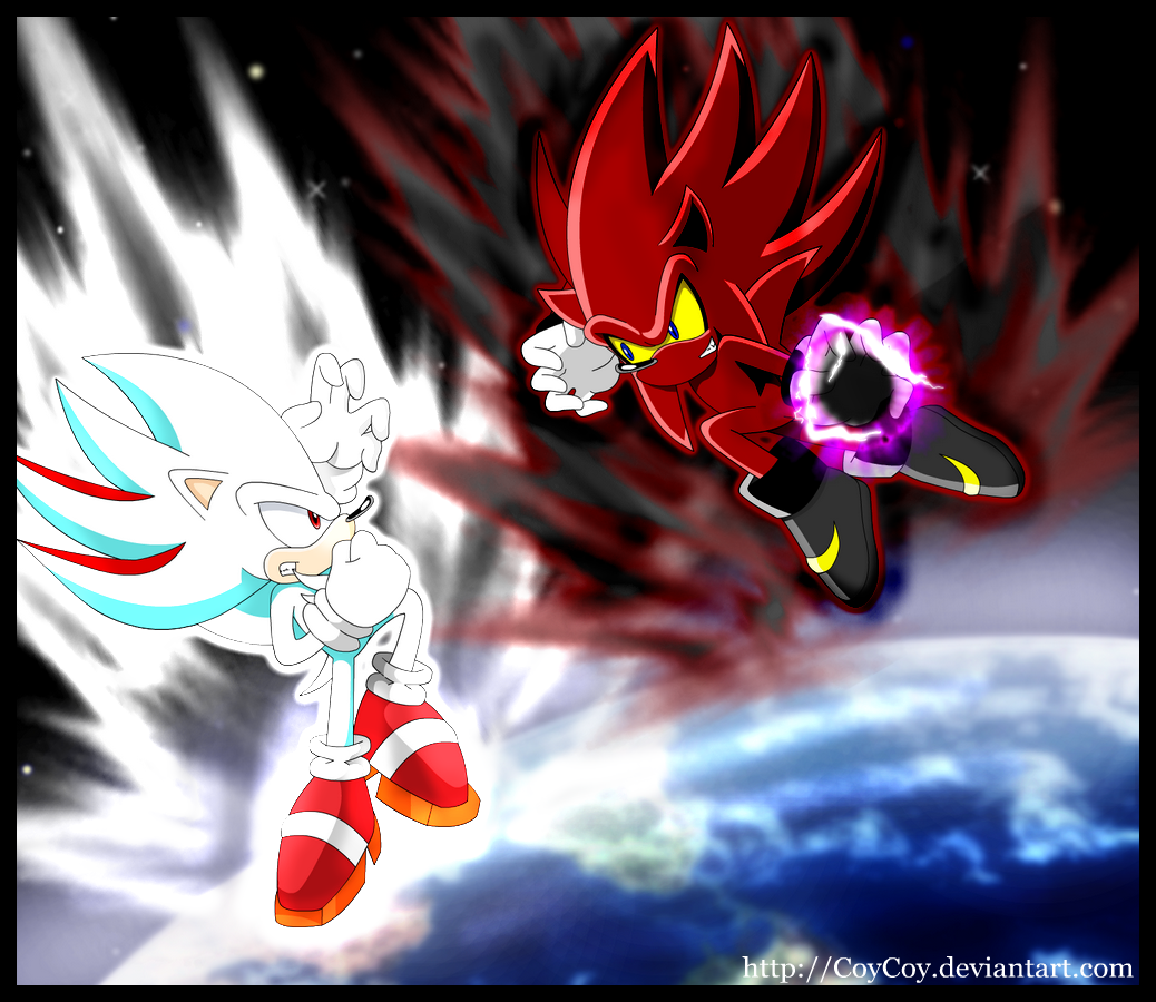 Nazo vs Shadic in space by coycoy on DeviantArt