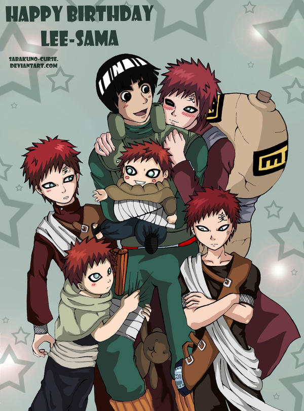 LeeGaara-Happy B-Day Lee. by Ravenniia on DeviantArt Gaara And Lee