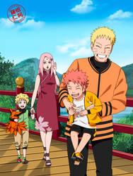 A family walk-NaruSaku by Ravenniia
