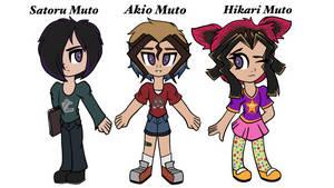 Yugioh OCs: Satoru, Aiko, and Hikari Muto