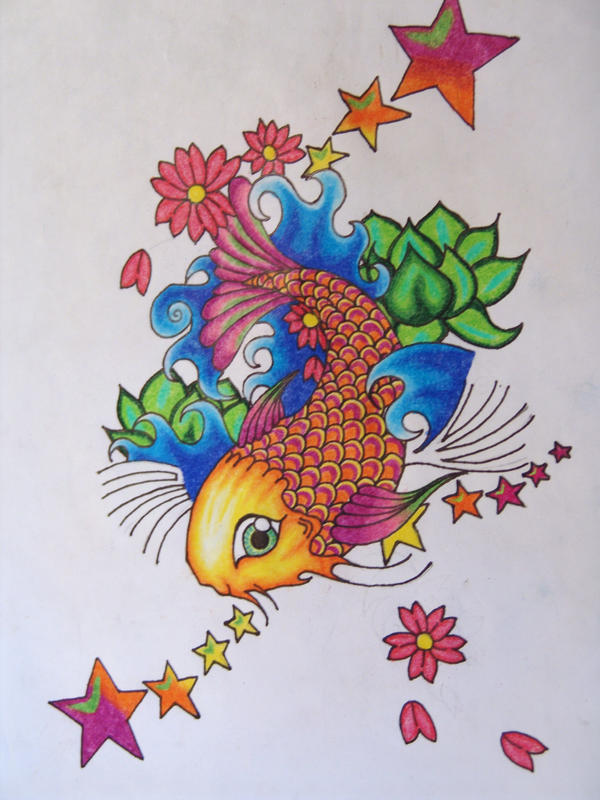 koi fish tattoo design by