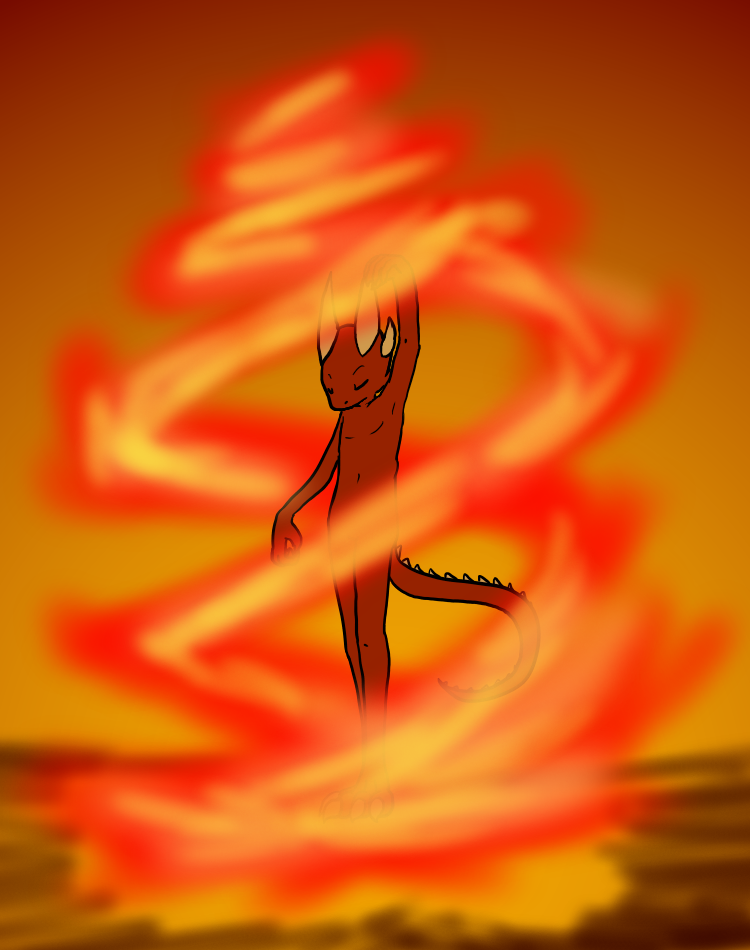 Rising Flame by VedtheFlameDevil