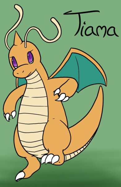 Tiama the Dragonite by VedtheFlameDevil