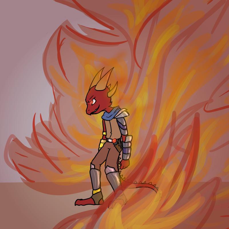 Burning Up by VedtheFlameDevil