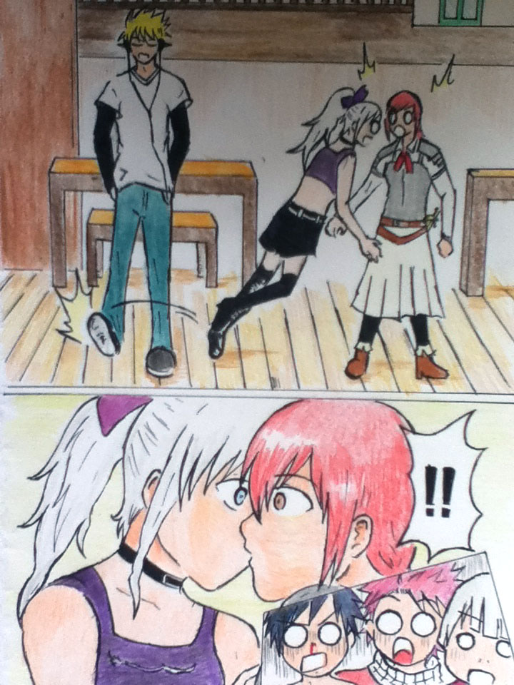 erza_x_mirajane_accidentally_kiss_comic_
