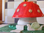 mushroom cake.