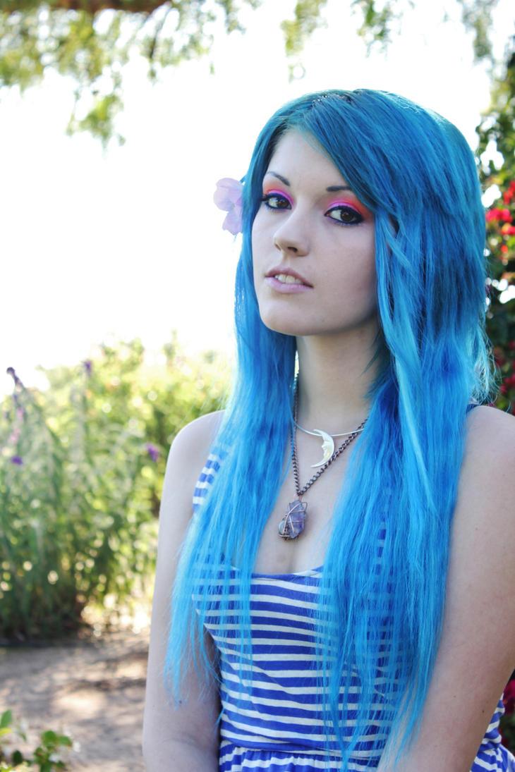 Black And Blue Scene Hair Leda Leda Monster Bunny and