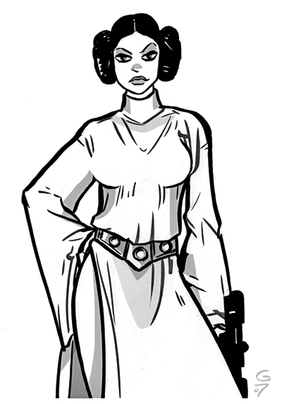 Princess leia by grantgoboom on deviantart for Princess leia coloring page