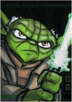 Topps Clone Wars ARC Yoda by grantgoboom