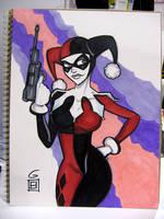 SDCC Sketch: Harley Quinn by grantgoboom