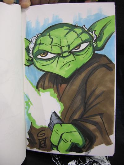 SDCC Sketch: Yoda by grantgoboom