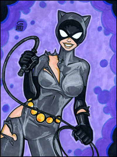 Catwoman Marker Commission by grantgoboom