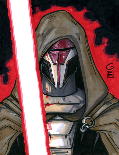 Darth Revan Marker Commission by grantgoboom