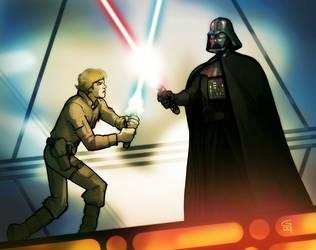 ESB Luke and Vader by grantgoboom