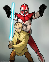 Clone Wars S2 Webcomic Cov1 by grantgoboom
