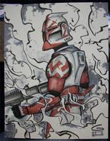 C2E2 Sketch: Clone Trooper by grantgoboom
