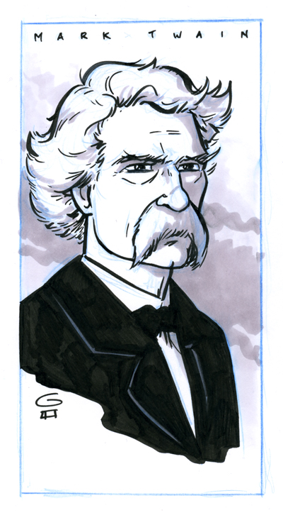 Mark Twain by grantgoboom