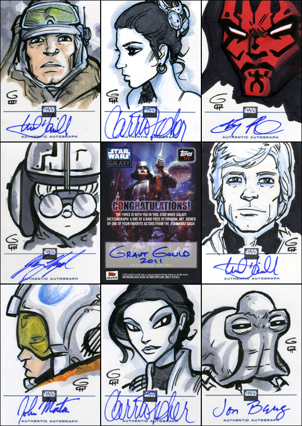 Star Wars G6 Sketchagraphs by grantgoboom