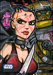 SWG6 Sketch Card: Hunters by grantgoboom