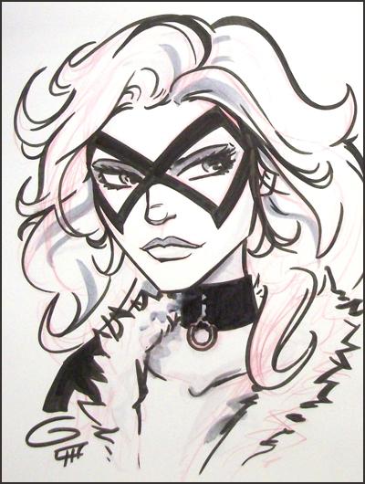 Black Cat Head Sketch By Grantgoboom
