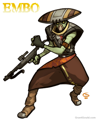 Draw EMBO from The Clone Wars by grantgoboom