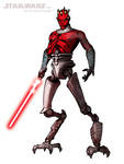 DRAW THE CLONE WARS DARTH MAUL