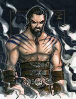 DRAWING VIDEO: Khal Drogo by grantgoboom