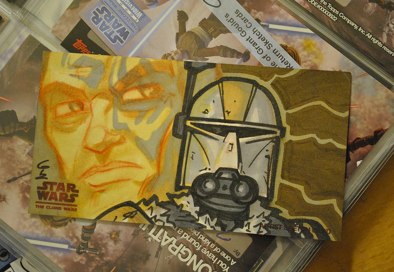 Rako Hardeen Clone Wars card by grantgoboom