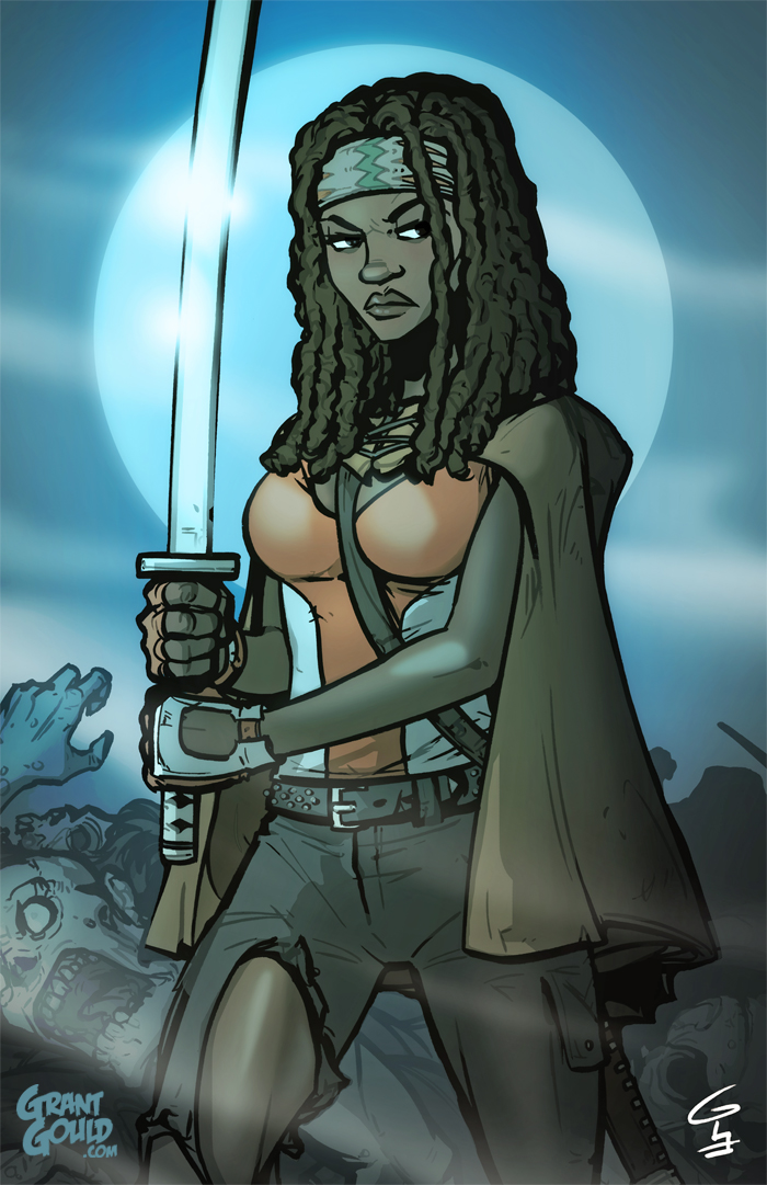 THE WALKING DEAD: Michonne by grantgoboom