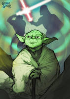 Star Wars Illustrated ESB: YODA by grantgoboom