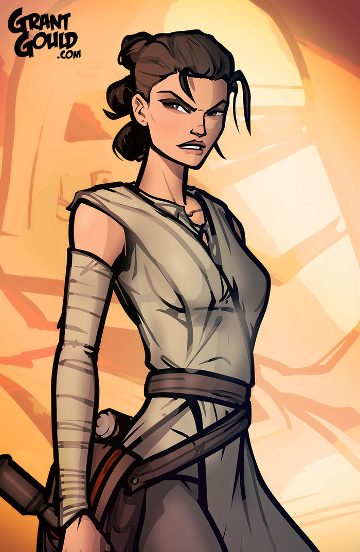 Rey: The Force Awakens by grantgoboom