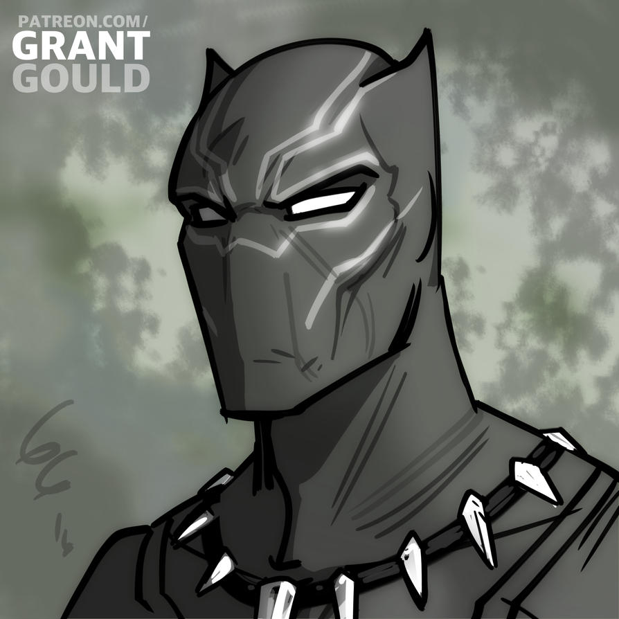 black panther by grantgoboom