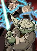 Yoda vs. Sidious by grantgoboom