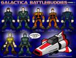 Galactica Battlebuddies Set 2