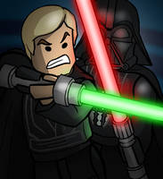 LEGO Lightsaber Duel by grantgoboom