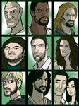 LOST Character Collage