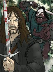 LOTR: Aragorn vs. Lurtz by grantgoboom