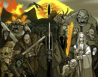 LOTR Villains by grantgoboom