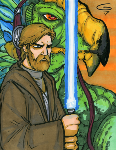 Obi-Wan and Boga by grantgoboom