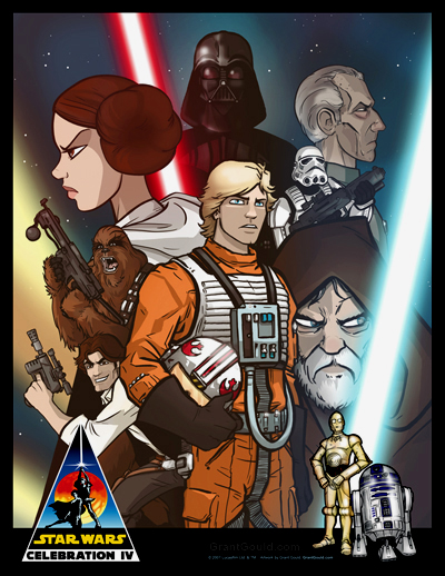 Star Wars Celebration IV Print by grantgoboom