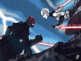 Darth Maul vs. Asajj Ventress