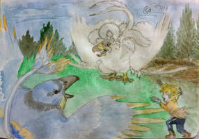 Langley and Sephiroth Nest Rage by AzureGryphon
