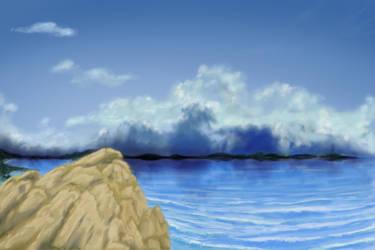 Rocky Shore Landscape