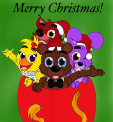 Merry fnaf christmas! by TheNerdyKat