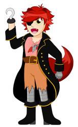 Foxy the pirate fox - Human by TheNerdyKat