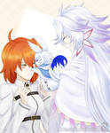 Merlin and Gudako - Fate Grand Order