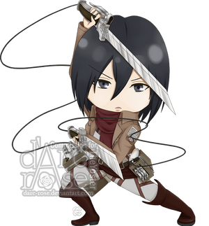 Commission - TheYoster - SnK-Mikasa by darc-rose
