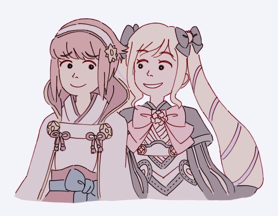 sakura and elise by Azurane